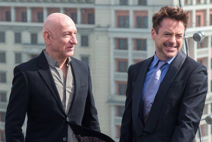 Роберт Дауни-мл. и Бен Кингсли представили фильм «Железный человек 3» в Москве