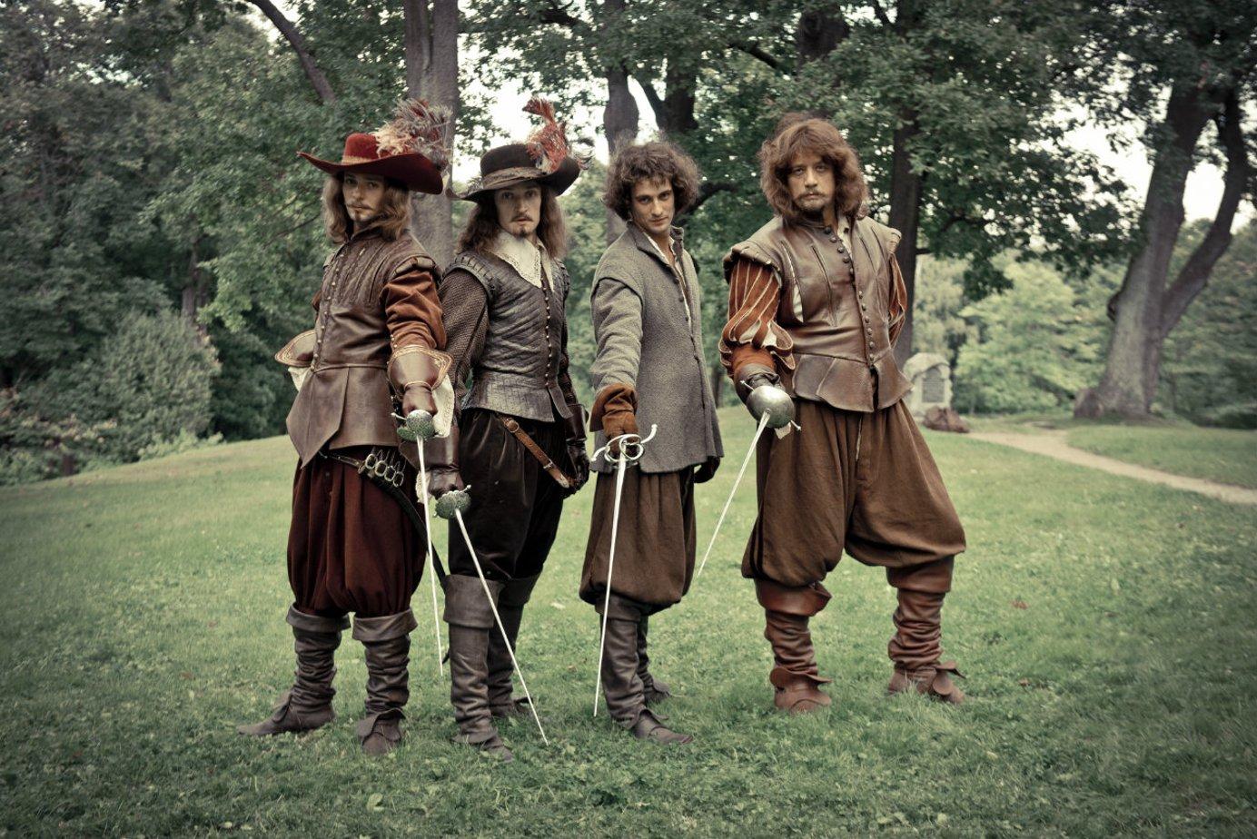 использовании картинки четыре мушкетера ответа