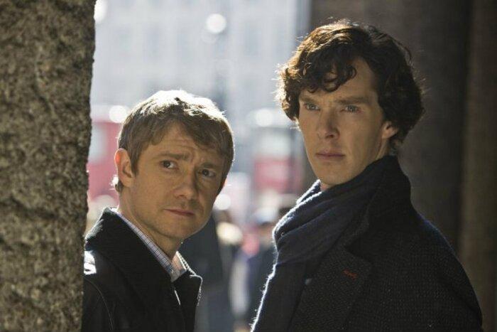 Камбербэтч и Фриман в рождественском эпизоде «Шерлока». Первое фото