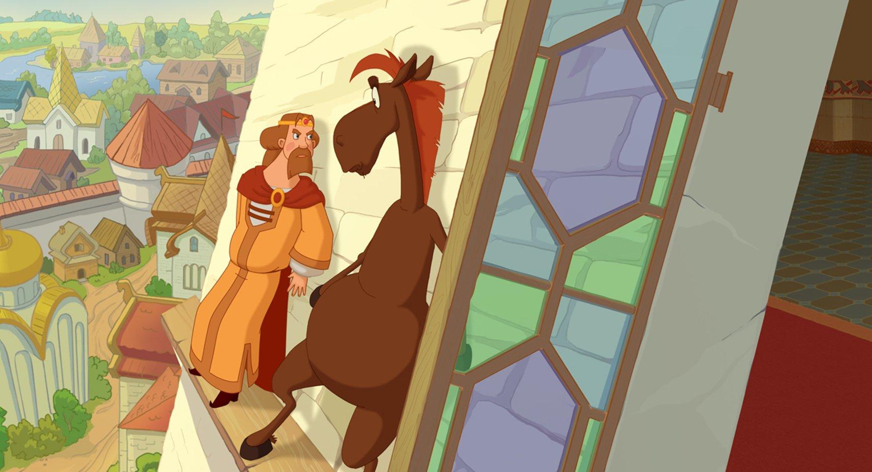 картинки из трех богатырей ход конем