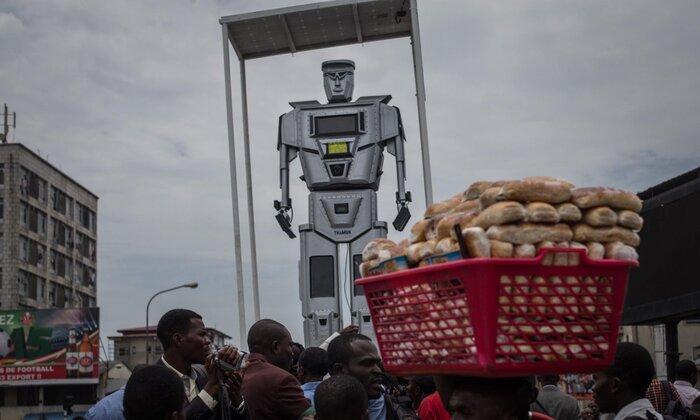 Настоящие робокопы следят за порядком в Демократической Республике Конго
