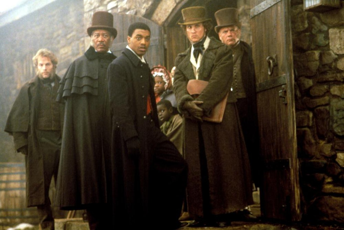 the title of the film was amistad and the film was released in 1997 essay Director: steven spielberg starring: morgan freeman, nigel hawthorne, anthony hopkins and others.