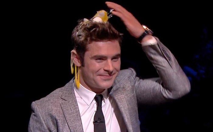 Зак Эфрон разбил яйцо о свою голову