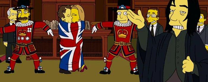 «Симпсоны» почтили память Алана Рикмана и Дэвида Боуи
