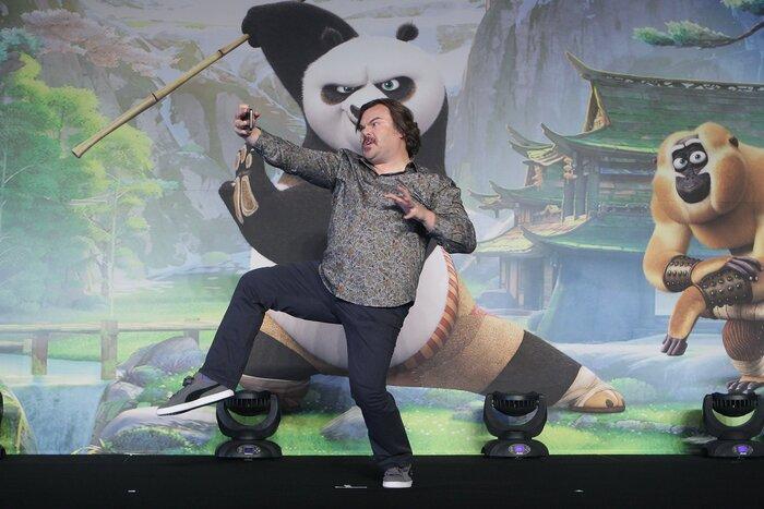 Фото дня: Джек Блэк представил «Кунг-фу Панду 3» в Южной Корее