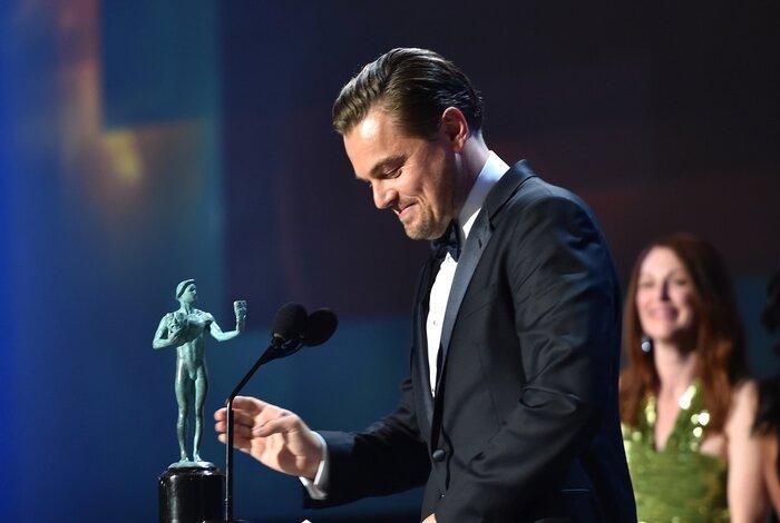 Фото дня: ДиКаприо получил награду Гильдии киноактёров США