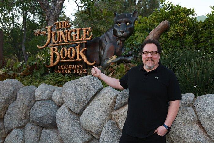 Фото дня: Джон Фавро представил фильм «Книга джунглей» зрителям