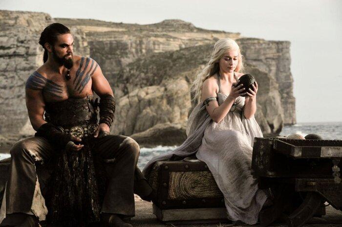 Секс кхал дрого с дайнерис в сериале игра престолов