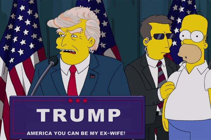 Мультсериал «Симпсоны» предсказал победу Дональда Трампа на выборах
