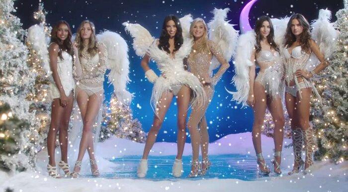 «Ангелы» Victoria's Secret снялись в музыкальном рождественском видео Santa Baby