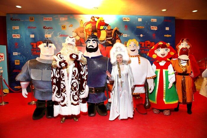 Кинозвёзды собрались на премьере мультфильма «Три богатыря и Морской царь». Фото