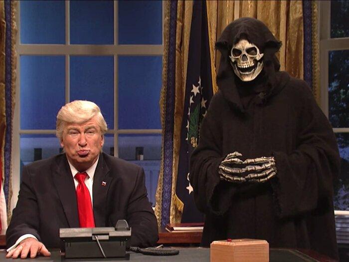 Трамп советуется со Смертью в новом пародийном видео