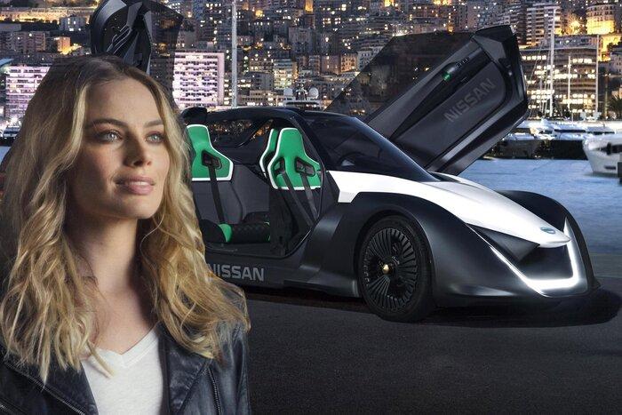 Марго Робби гоняет на суперкаре Nissan в новой рекламе