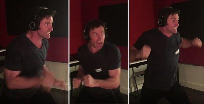 Хью Джекман опубликовал видео с озвучивания «Логана»
