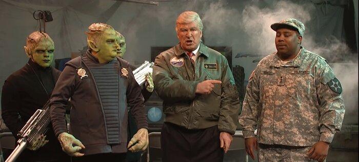В новой пародии Трампа заподозрили в связях с инопланетянами. Видео