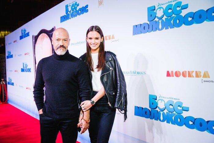 Фото дня: Паулина Андреева и Фёдор Бондарчук на премьере мультфильма «Босс-молокосос»