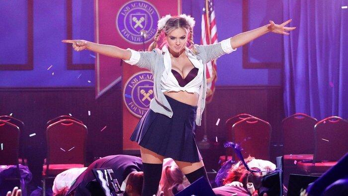 Модель Кейт Аптон сняла сексуальную пародию на клип Бритни Спирс