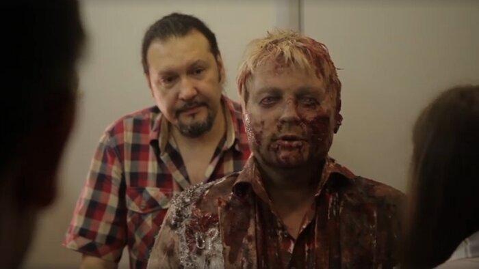 Николай Басков превращается в зомби в фильме «Z». Видео