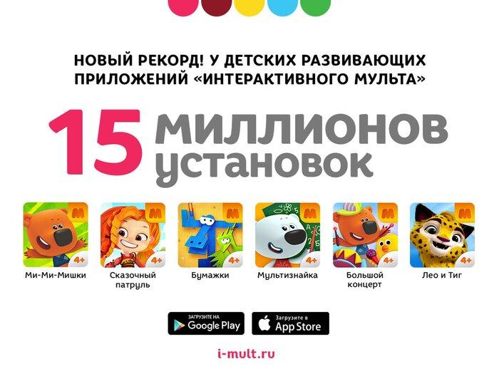 Детские приложения от «Интерактивного Мульта» установили 15 млн раз