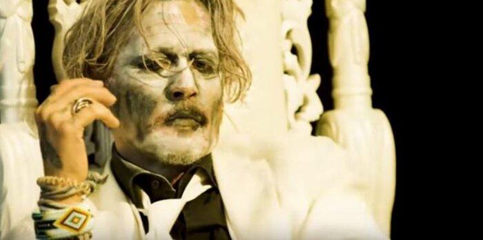 Джонни Депп снялся в клипе Мэрилина Мэнсона. 18+