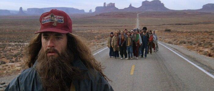 Двойник Форреста Гампа бегает по Калифорнии. Видео