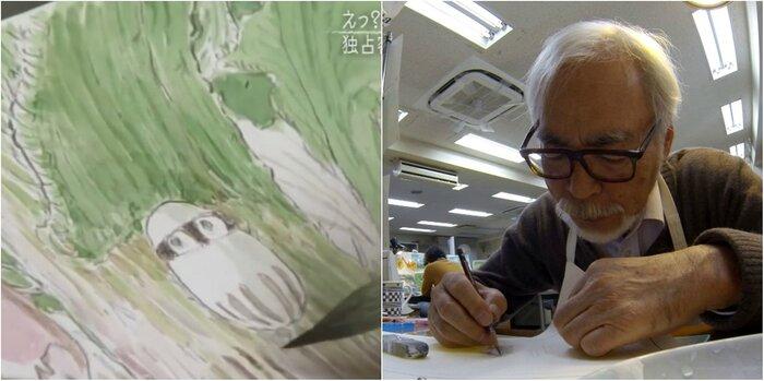 Миядзаки рисует новый фильм: первые кадры