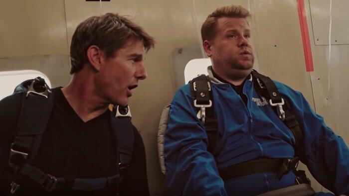 Том Круз заставил телеведущего прыгнутьс самолёта