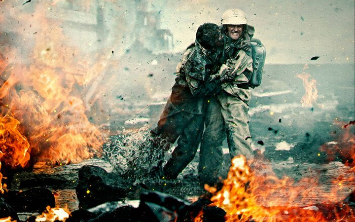 Козловский и Авдеев ныряют под АЭС в трейлере фильма «Чернобыль»